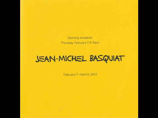 image of Jean-Michel Basquiat (Gagosian) fold-out