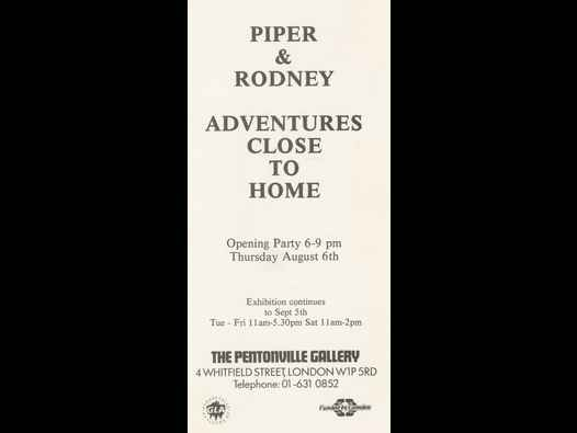 image of Piper & Rodney: Adventures Close to Home - opening party card