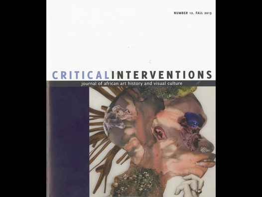 image of Critical Interventions Number 12, Fall 2013