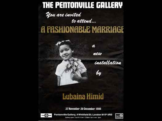 image of Lubaina Himid: A Fashionable Marriage poster/brochure
