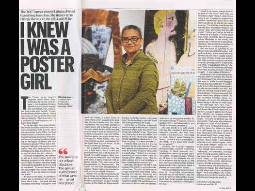 image of I KNEW I WAS A POSTER GIRL - Lubaina Himid