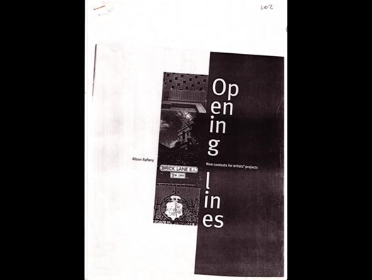 image of Opening Lines/new contexts for artists' projects