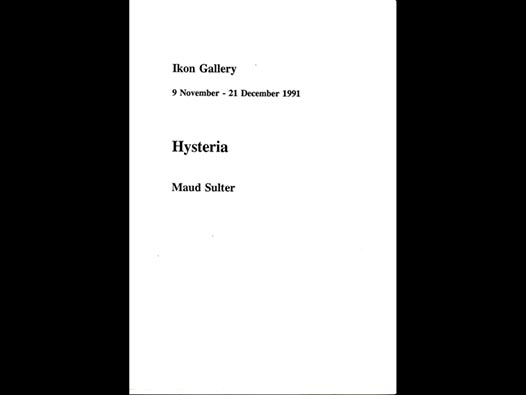 image of Hysteria | Maud Sulter