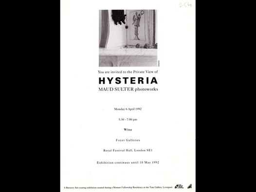 image of Hysteria | Maud Sulter Photoworks