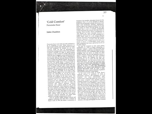 image of Permindar Kaur | Cold Comfort - Eddie Chambers' review