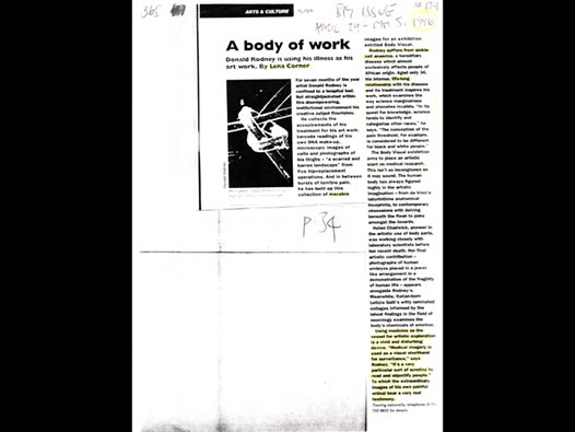 image of A Body of Work: Donald Rodney