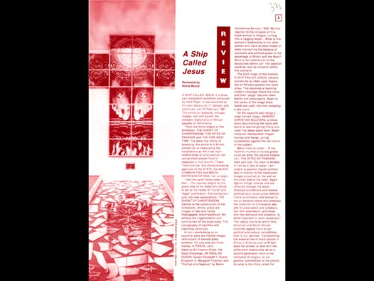 image of A Ship Called Jesus - Reviewed by Sonia Boyce