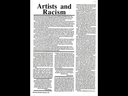 image of Artists and Racism