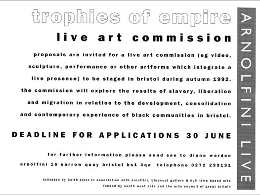 image of Trophies of Empire: live art commission
