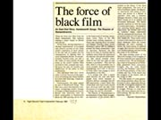 Click to view details and links for The force of black film