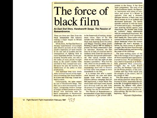image of The force of black film