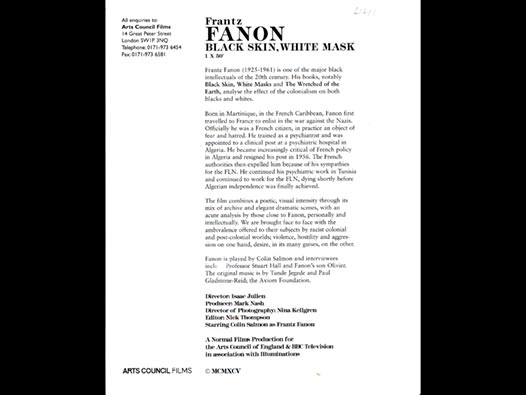 image of Frantz Fanon | Black Skin, White Mask