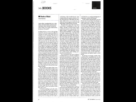 image of Shades of Black book review (Art Monthly)