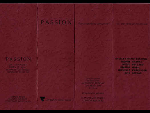 Passion: Blackwomens Creativity of the African Diaspora. Invite relating to an exhibition, 1989