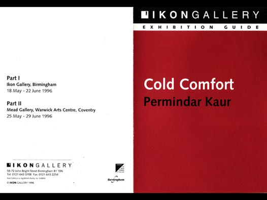 image of Permindar Kaur | Cold Comfort Ikon Gallery gallery guide