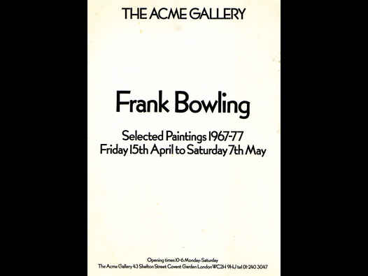 image of Frank Bowling | Selected Paintings 1967-77