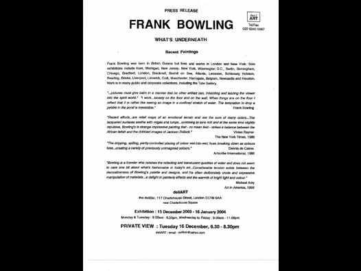 image of Frank Bowling | What's Underneath