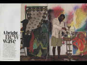 Click to view details and links for A bright new wave - Chris Ofili