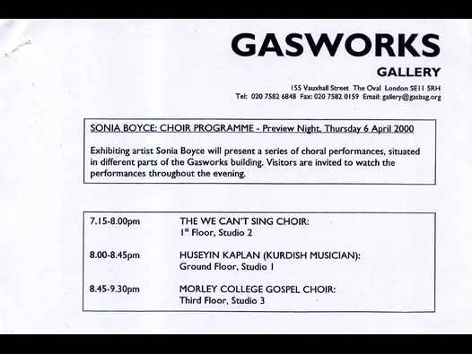 image of Sonia Boyce: Choir Programme