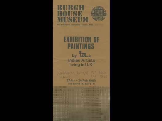 image of Exhibition of Paintings by IAUK Indian Artists living in U.K. brochure