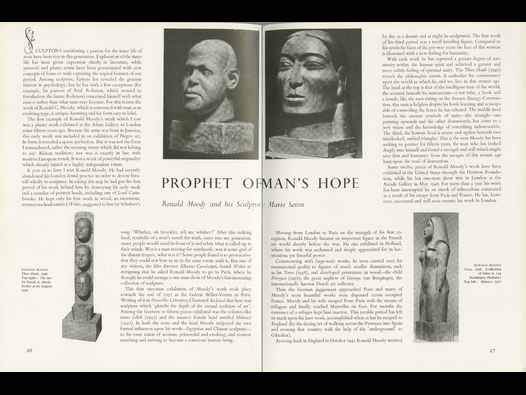 image of Prophet of Man's Hope:  Ronald Moody and his Sculpture.