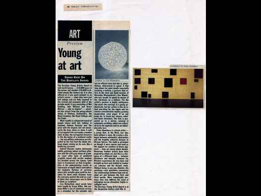 image of Young at art - Barclays Young Artists award 1992 review, Time Out